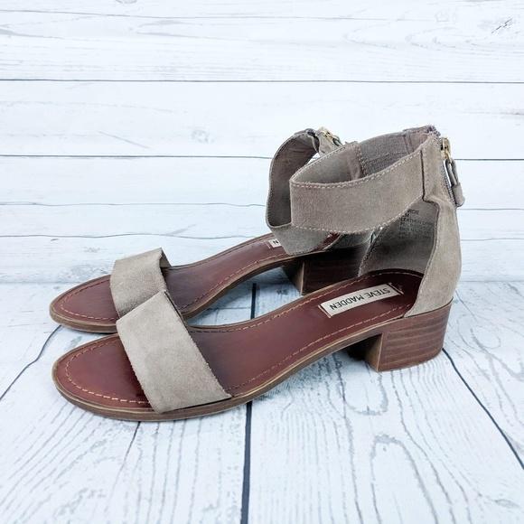 7472d099d23 Steve Madden Tan Darcie Ankle Strap Sandals 8